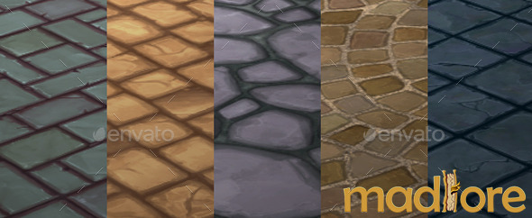 3DOcean Handpainted Floor Textures Pack 01 9576326