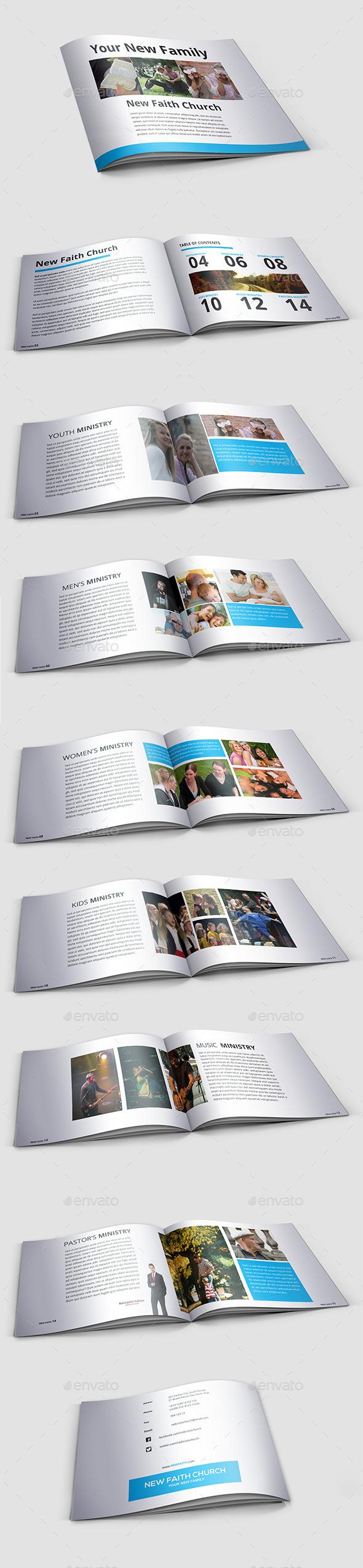 GraphicRiver Modern Minimal Church Brochure 9576331