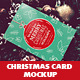 Christmas Card Mockup - GraphicRiver Item for Sale