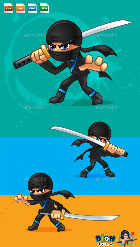 GraphicRiver Cartoon Ninja 9578462