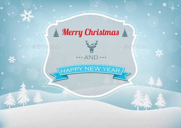 GraphicRiver Christmas & New Year Background 9525620