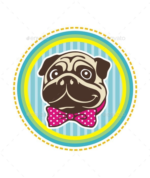 GraphicRiver Pug Head 9578979