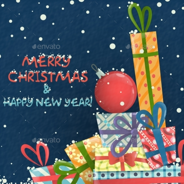 GraphicRiver Merry Christmas and Happy New Year 9579181