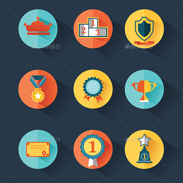 GraphicRiver Award Icons Set 9579957
