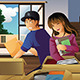 Young Couple Unpacking Boxes - GraphicRiver Item for Sale