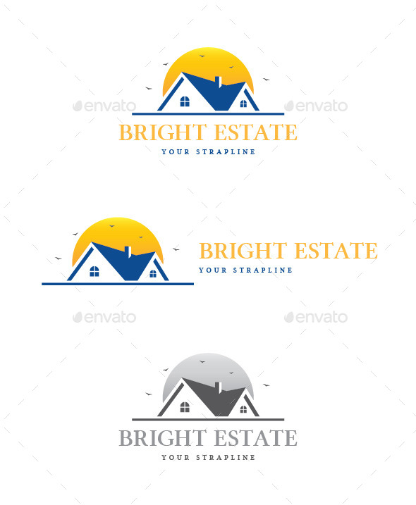 GraphicRiver Bright Estate Logo 9329495