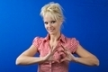 Woman making heart shape with her hands - PhotoDune Item for Sale