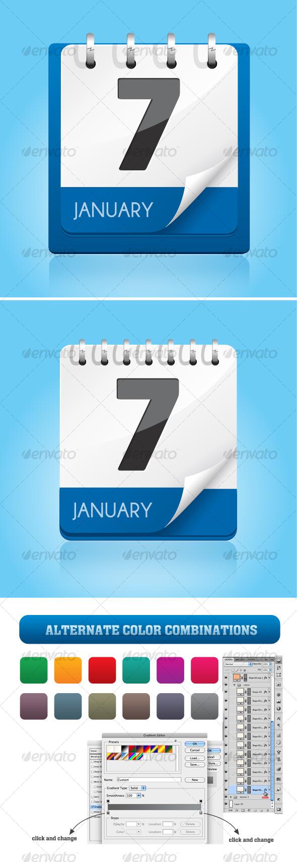 GraphicRiver Calendar Icon 122208