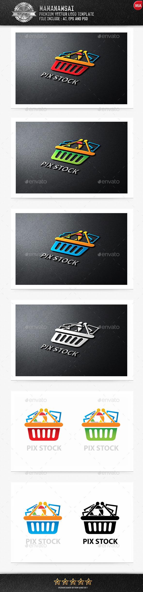 GraphicRiver Pix Stock Logo 9581235
