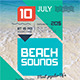 Beach sounds poster template - GraphicRiver Item for Sale