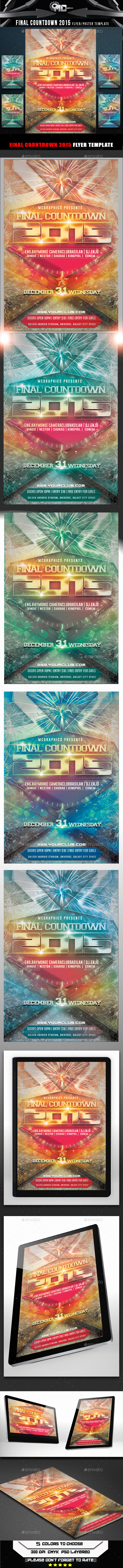GraphicRiver Final Countdown 2015 Flyer Template 9581615