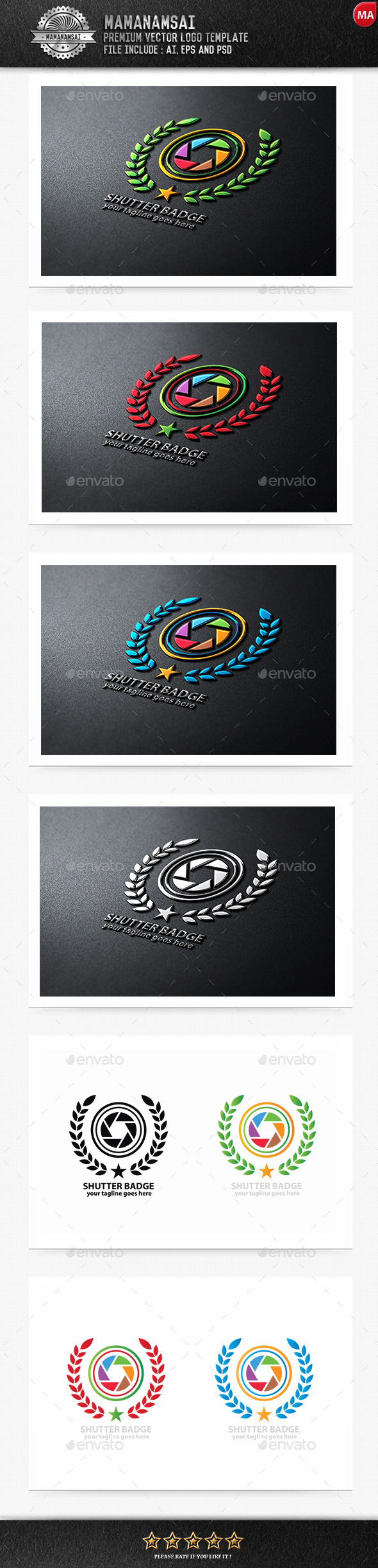 GraphicRiver Shutter Badge Logo 9581661