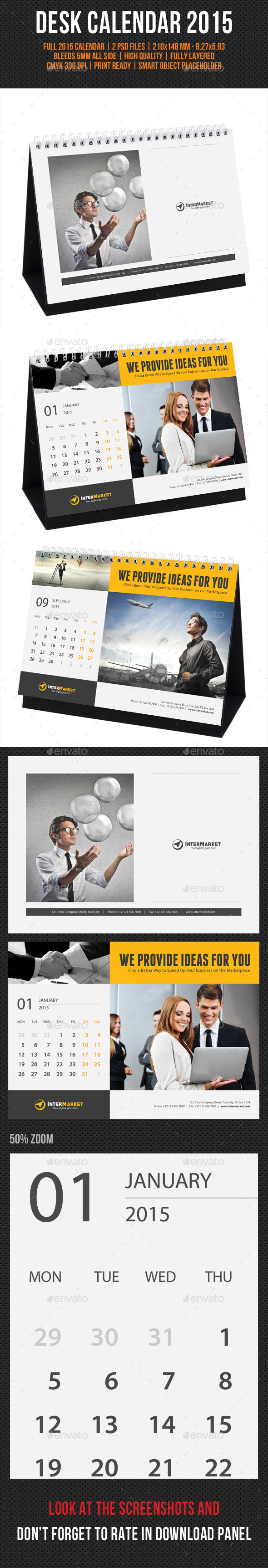 GraphicRiver Corporate Desk Calendar 2015 9534311