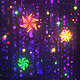 Colorful Neon Snowflakes - Christmas & New Year VJ Loop