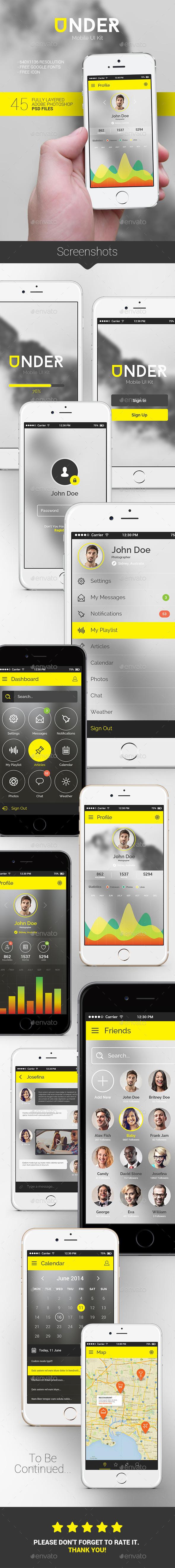 GraphicRiver Under Mobile UI Kit 9535027