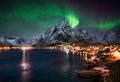 Northern lights over Reine, Lofoten, Norway - PhotoDune Item for Sale