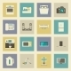 Electrical Appliances Flat Icons Set - GraphicRiver Item for Sale