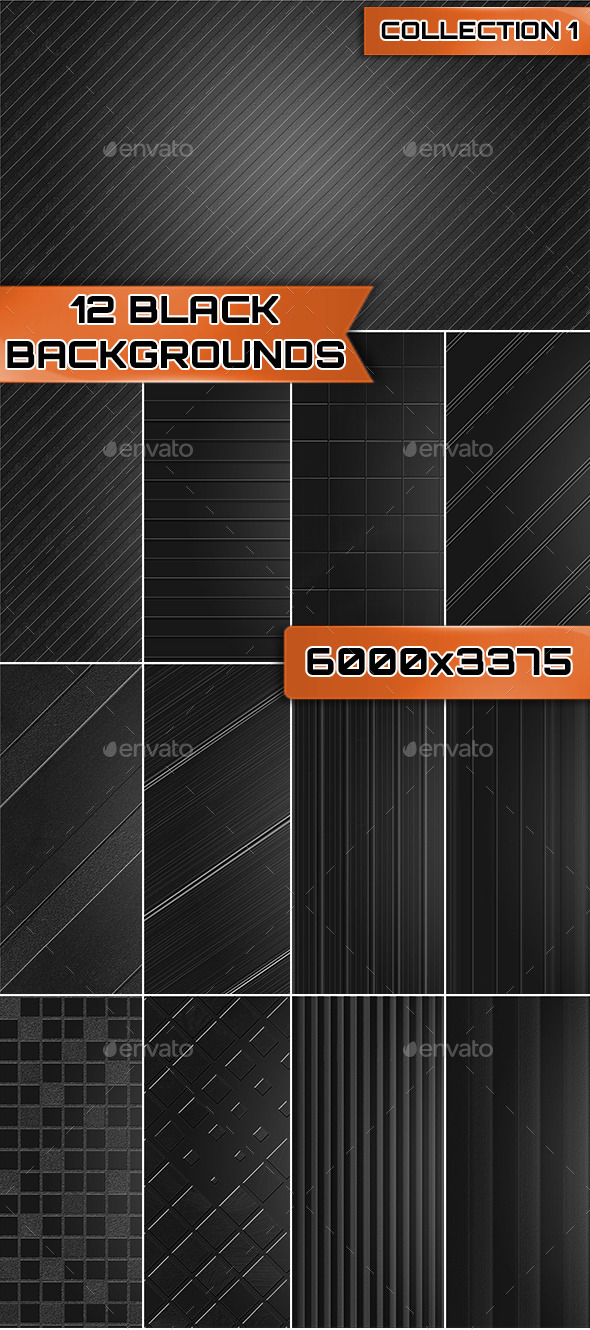 GraphicRiver 12 Black Backgrounds Collection 1 9525994
