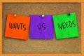 Wants vs Needs - PhotoDune Item for Sale