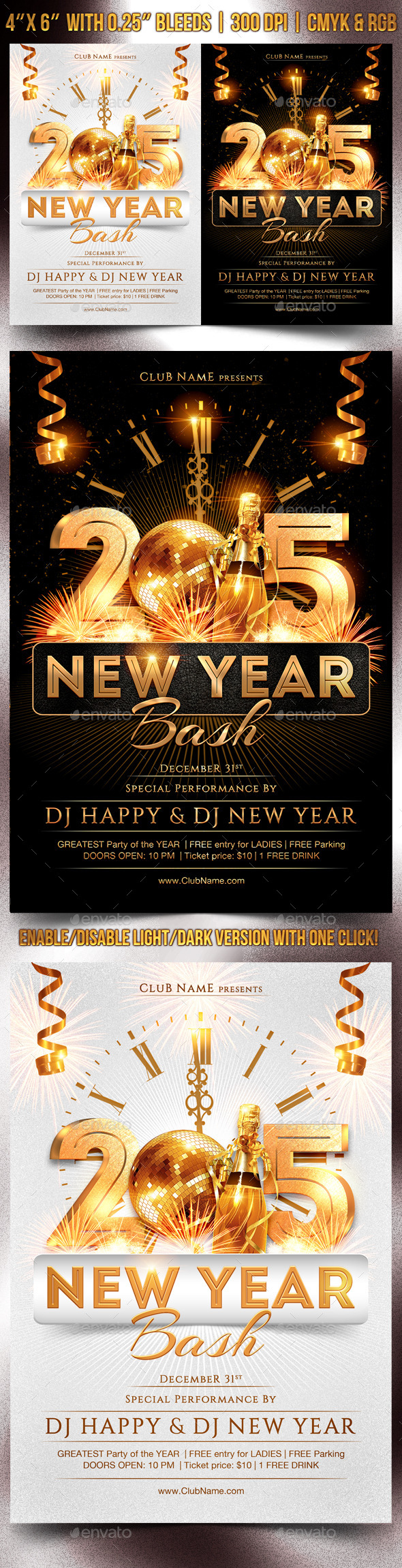 GraphicRiver New Year Bash Flyer Template 9582439
