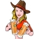Cowgirl with Beer - GraphicRiver Item for Sale