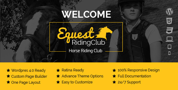 ThemeForest Equest Riding Club WordPress Theme 9065190