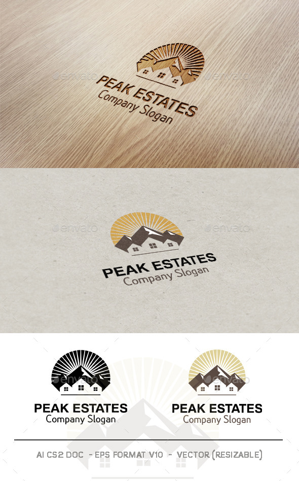 GraphicRiver Peak Estates Logo 9582817