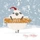 Santa Sheep Symbol of New Year 2015 - GraphicRiver Item for Sale