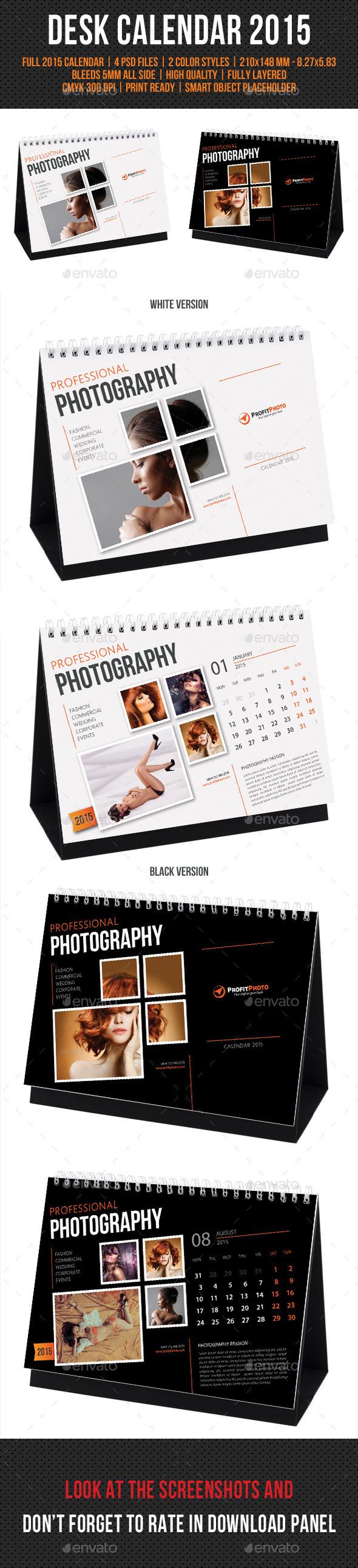 GraphicRiver Creative Desk Calendar 2015 9537572