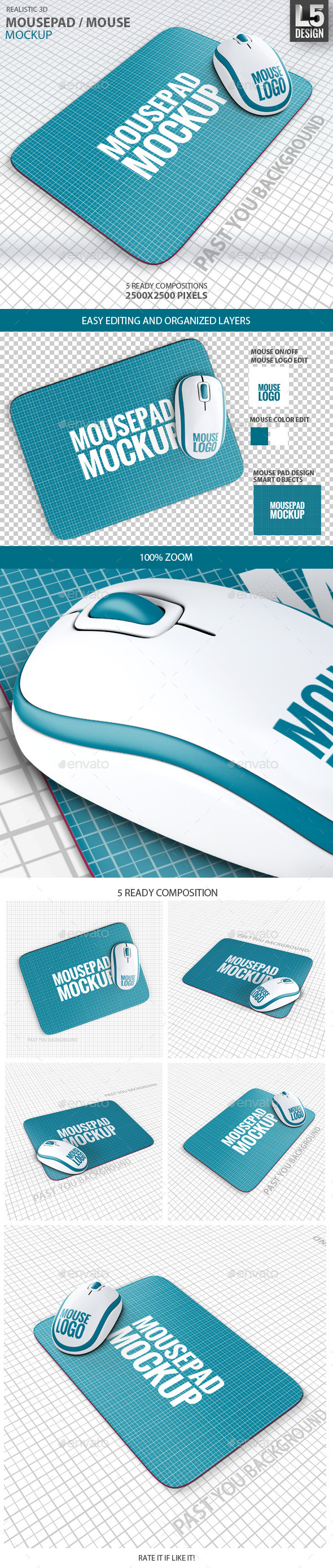 GraphicRiver Mousepad Mouse Mock-up 9583169