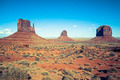View of Monument valley under the blue sky - PhotoDune Item for Sale