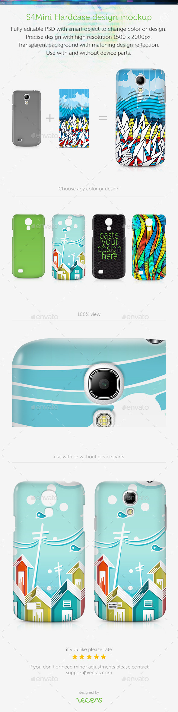 GraphicRiver S4Mini Case Design Mockup 9583738