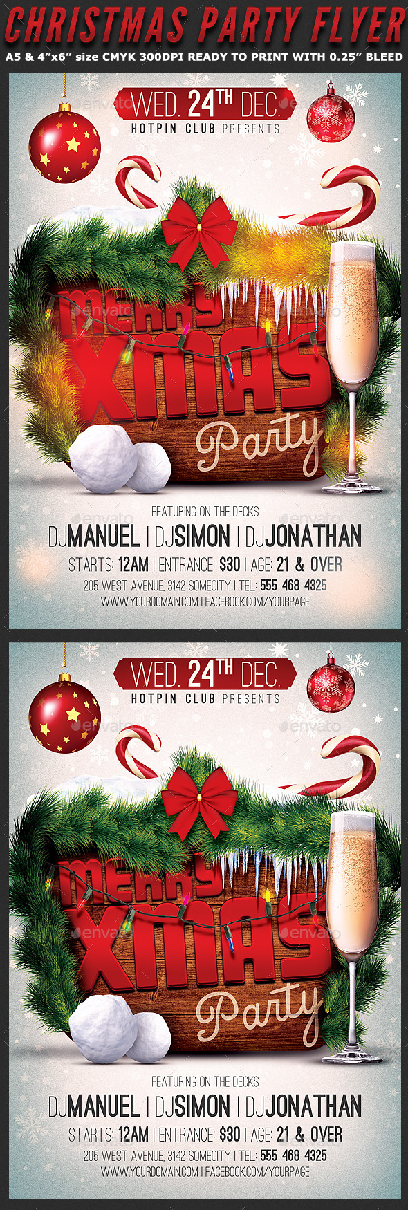 GraphicRiver Merry Christmas Party Flyer Template 9583905