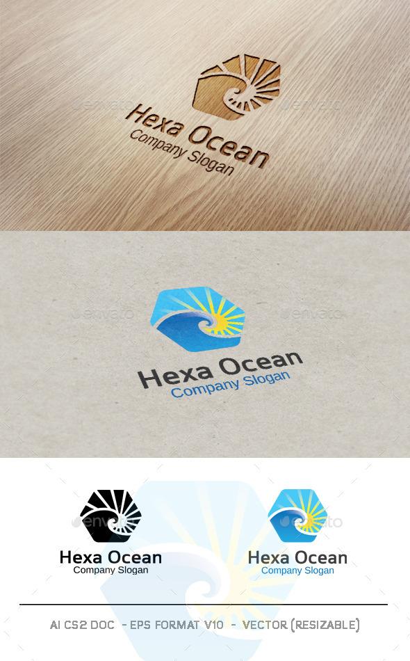 GraphicRiver Hexa Ocean Logo 9583979