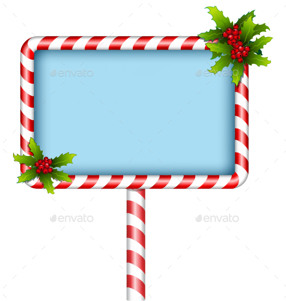 GraphicRiver Candy Cane BillBoard 9584001