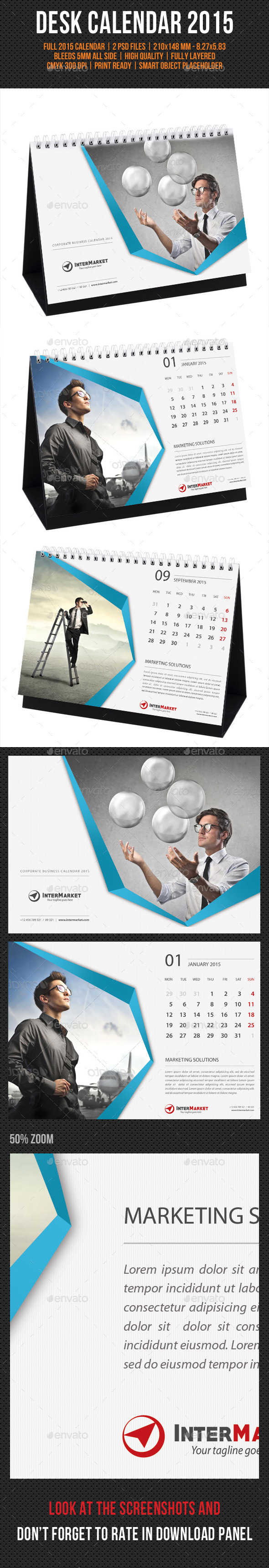 GraphicRiver Corporate Desk Calendar 2015 V02 9584033
