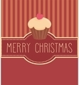 Holidays card with cupcake and hand drawn Merry Christmas wishes - PhotoDune Item for Sale