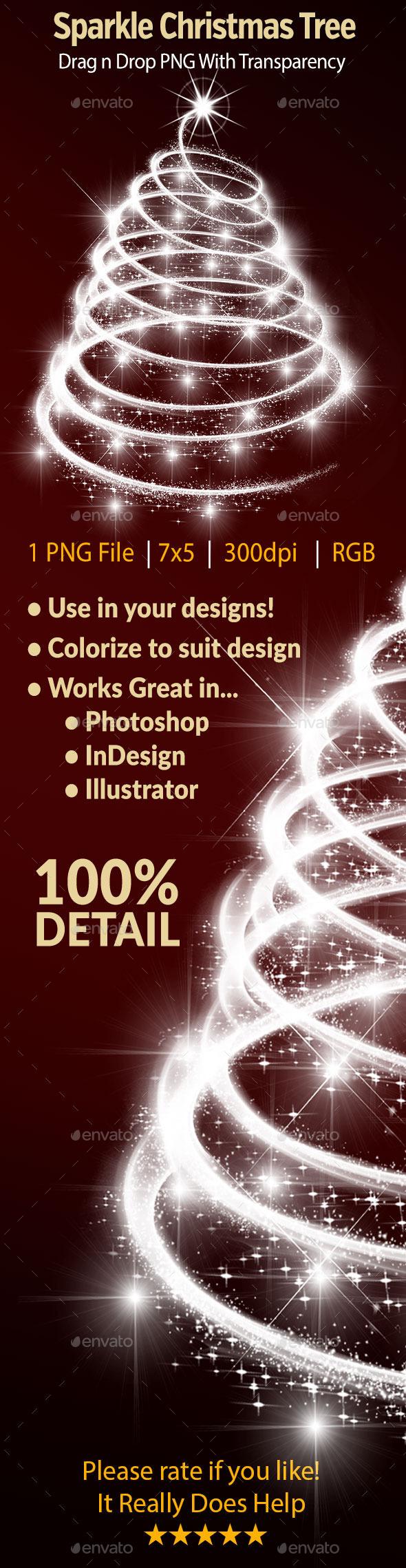 GraphicRiver Sparkle Christmas Tree 9537687