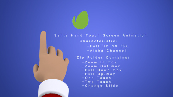 Santa Hand Touch Screen Animation