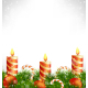 Christmas Candles with Balls, Candy Canes and Pine - GraphicRiver Item for Sale