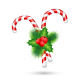 Two Candy Canes with Holly  - GraphicRiver Item for Sale