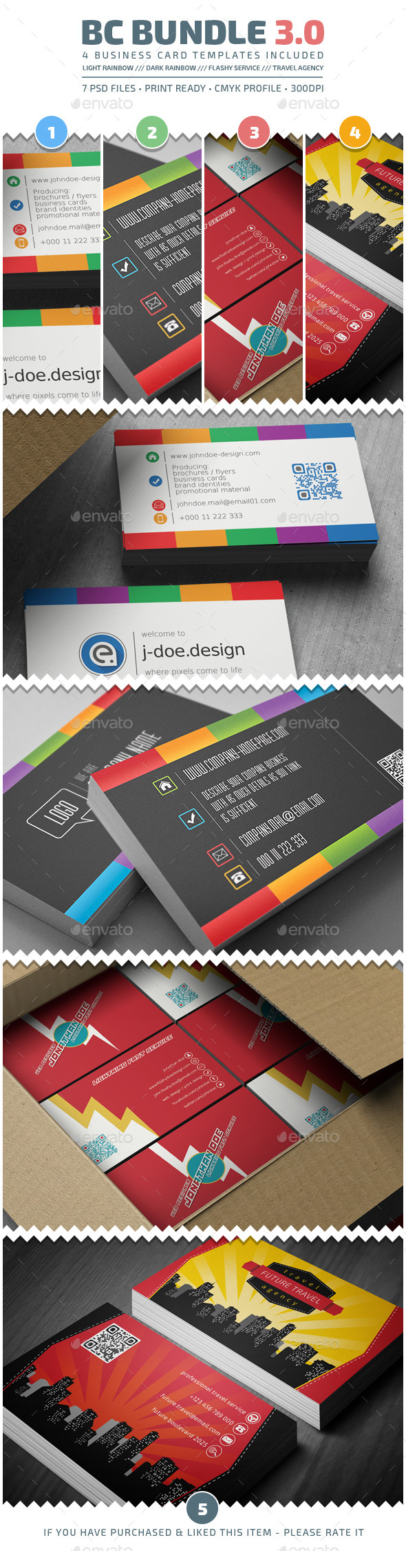 GraphicRiver Business Cards Bundle v3.0 9584380