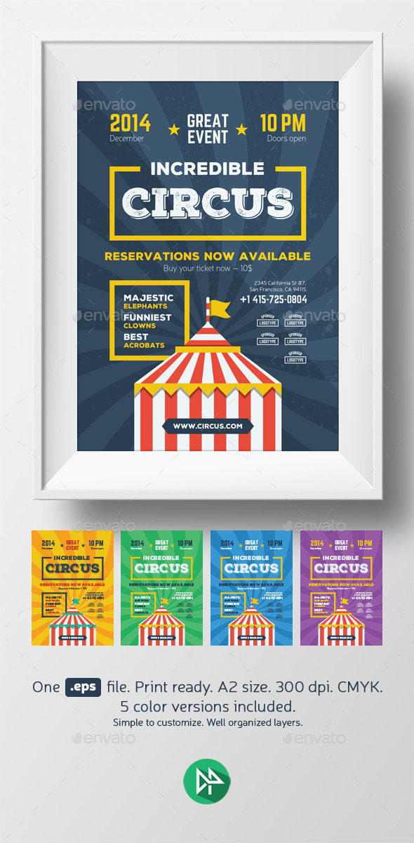 GraphicRiver Circus Poster Template 9584567