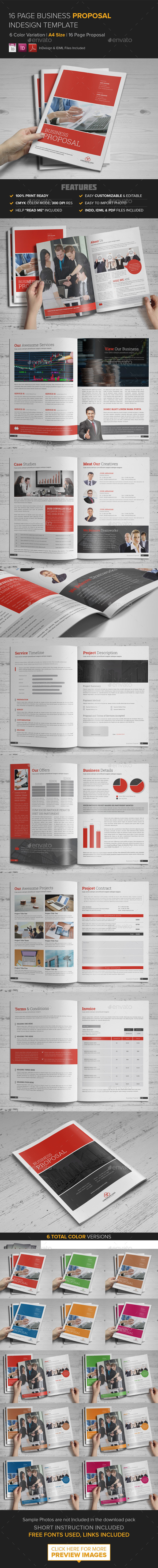 GraphicRiver Business Proposal InDesign Template 9585059
