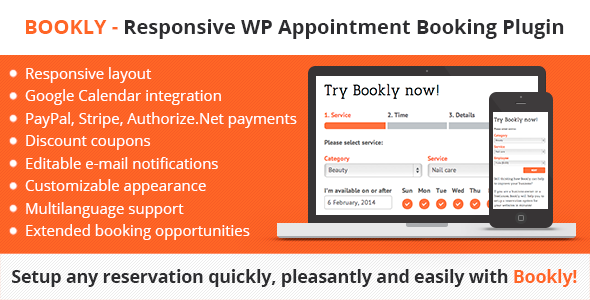 Bookly Responsive WordPress Appointment Booking and Scheduling Plugin