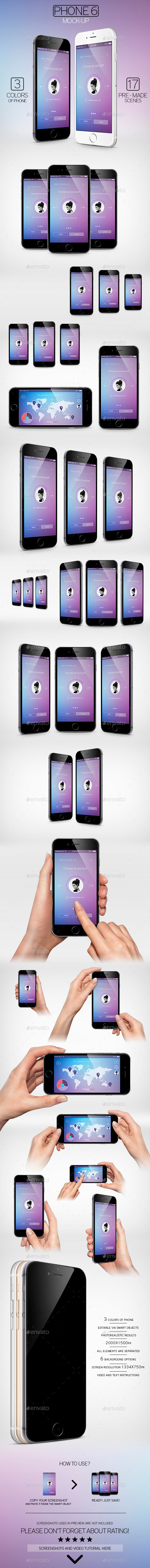 GraphicRiver Phone 6 Mock-Up 9585268