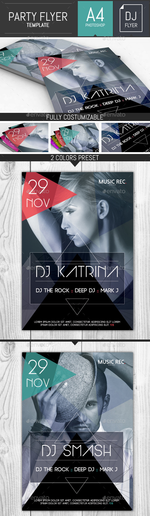 Abstract Party Dj Flyer Template
