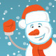 Happy Snowman with a Ribbon - GraphicRiver Item for Sale