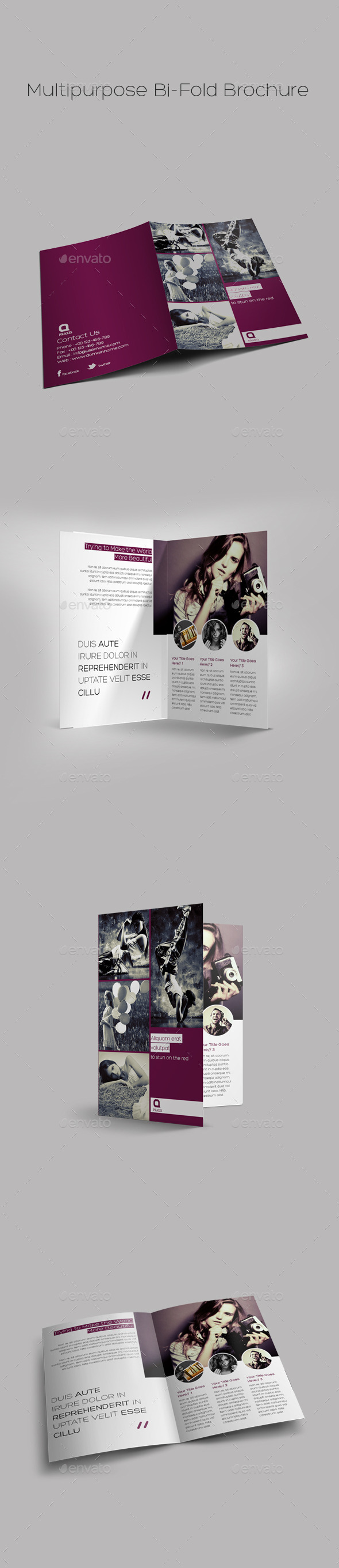 GraphicRiver Multipurpose Bi-Fold Brochure 9585465