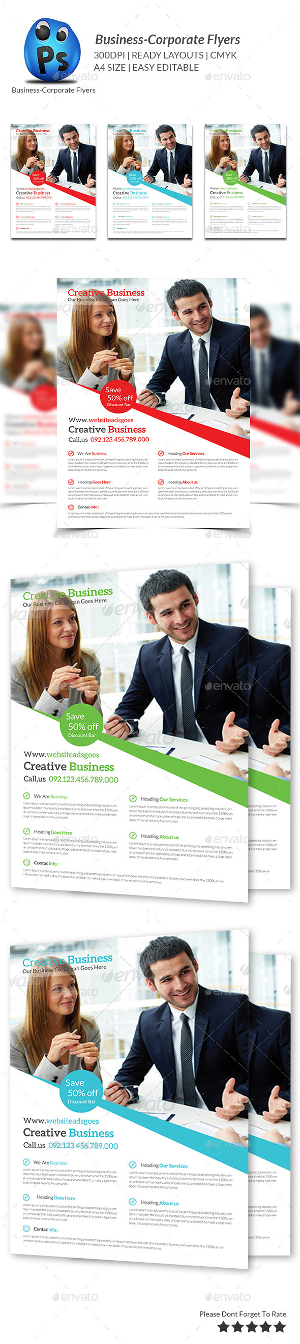 GraphicRiver Corporate Business Flyer Template 9585538